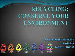 recycling conserve your environment