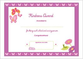 Kids Award Certificate Kindness Printable Award Certificate Lottie Dolls