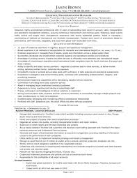 Transportation Manager Resume Cover Letter Sample Transportation Management Resume Logistics 1