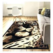 leopard print area rugs rug animal novelty black anim