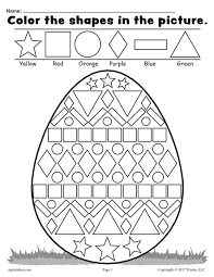Easter Egg Shape Worksheet free easter egg shapes worksheet & coloring page! on easter worksheets