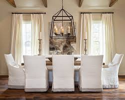 slipcovered dining chairs modern covered intended for 16