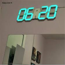 large digital led wall clock with diy display remote 3d led digital wall clock timer modern