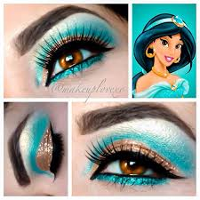 princess jasmine inspired eye makeup