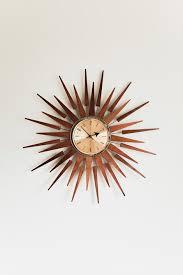 vintage mid century starburst clock