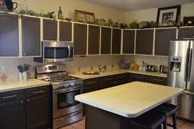 popular brown painted kitchen cabinets