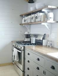 kitchen shelf decorating ideas open shelves aluminium oven toaster wooden lacquered cabinet wood stained islands window