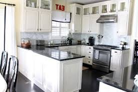 off white cabinets dark floors. antique white kitchen cabinets off with dark floors d