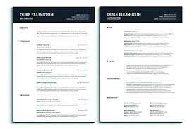 Pages Resume Templates Mac Beauteous One Page Resume Template