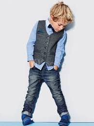 Shirts With Pants Ring Bearer Suits Boys Outfit Blue Shirts Pants Waistcoat Bow Tie Kids Formal Attire 4 Piece