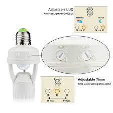 Sensor Light Lux Setting Lphumex Motion Sensor Light Socket Pir Motion E26 Screw