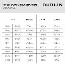 Calf Size Chart Dublin River Boots Iii Extra Wide Calf