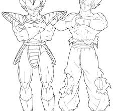 Dragon Ball Z Super Saiyan Coloring Sheets Printable Coloring Page