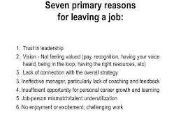 reasons for leaving job