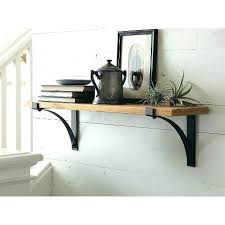 natural wood wall shelf floating wall shelves threshold floating shelves with brackets and natural wood material