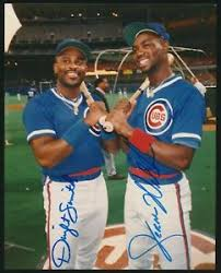 """DWIGHT SMITH & JEROME WALTON (Chicago Cubs) 8"""" x 10"""" Color Photo  -*AUTOGRAPHED* 