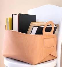 leather storage bin leather storage boxes bm