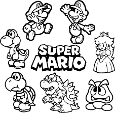 Mario Odyssey Coloring Pages Picture Super Printable Bros And Good