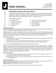 Senior Accountant Resume Word General Ledger Accountant Resume