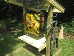 picture of archery target stand and range plans