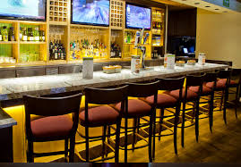 the newly redesigned olive garden bar area