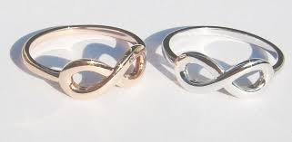 infinity wedding rings. gold infinity knot wedding rings set d