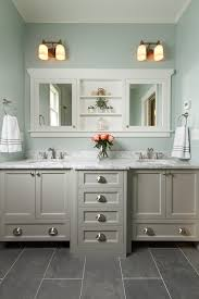 white bathroom cabinets gray walls. master bathroom with double vanity, marble countertop, mint walls, slate tile flooring | white cabinets gray walls r