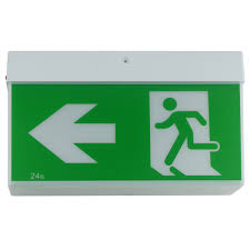 Exit Sign Lighting Requirements Led Slimline Ceiling Emergency Exit Light Martec Led