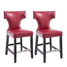 red counter height stools. Modren Counter CorLiving Kings Counter Height Barstool In Red With Metal Studs Set Of 2 With Stools