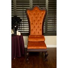 gothic inspired furniture. Gothic Inspired Orange Velvet High Back Throne Chair - Free Shipping Today Overstock 21001640 Furniture T