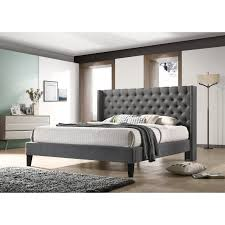 Shop LuXeo Pacifica King-size Tufted Grey Contemporary Bed - Free ...
