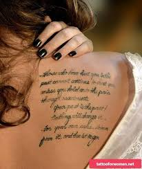 Tattoo Fonts For Effective Tattoo Saying Tattoo For Women