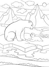 Small Picture Baby Polar Bear Coloring Pages Baby Polar Bear Coloring Pages