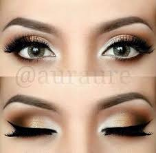 soft gold eyes def gonna use my new white eyeshadow like this