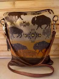 pendleton wool waxed canvas leather purse bag cross tote cross buffalo