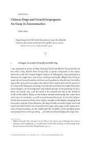 chinese dogs and french scapegoats an essay in zoonomastics  preview this chapter