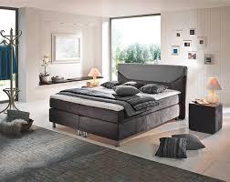 Boxspringbett In Grau In 2019 Schlafzimmer Boxspringbett Bett