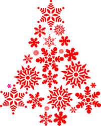 Browse svg vectors about christmas term. Red Snowflakes Tree Clip Art At Clker Com Vector Clip Art Online Royalty Free Public Domain