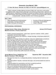 medical assistant resume samples no experience best business examples of medical resumes