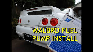 installing walbro 255 fuel pump in r33 skyline youtube Fuel Pump Wiring Harness Diagram at R33 Skyline Fuel Pump Wiring Diagram