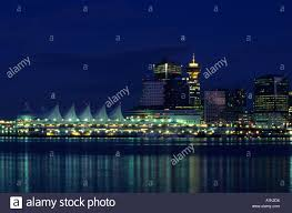 Earle Birney Vancouver Lights Canada Place Vancouver Bc From Stanley Park At Night