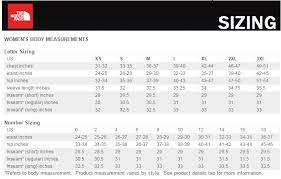 North Face Size Chart Tnf Womens Size Chart Jpg