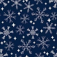 Winter Snowflakes Navy Blue Dark Blue Snowflake Pattern Snowflake