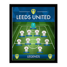 Personalised Leeds United FC Legends Line-Up Print - Framed