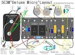 deluxe micro v2 is a self split push pull power tube output transformer is hammond 125a using secondary wires 2 4 to give 22500 8 load impedance for 8 ohm speaker