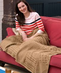 Free Afghan Knitting Patterns Circular Needles Classy Knit Your Cables Afghan Red Heart