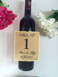 wine bottle stickers personalized wedding table numbers wine bottle label champagne