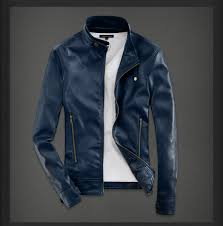 spring 3d motorcycle jacket leather men short paragraph brown black blue red green jaqueta de couro masculina leather jacket in faux leather coats from