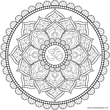 American Hippie Zentangle Coloring Page Art