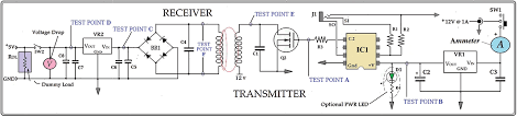 inductive charger schematic with test points